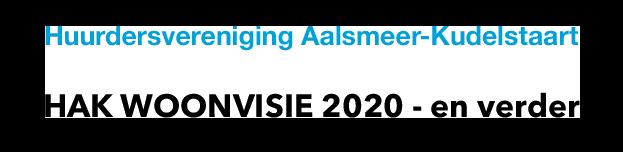 WOONVISIE 2020 – en verder